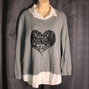 Style & Co casual heart top